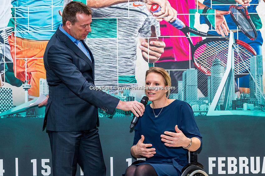 Amsterdam, Netherlands, Januari 10, 2017, Pressconference ABNAMROWTT 2018, Esther Vergeer<br /> Photo: Tennisimages/Henk Koster
