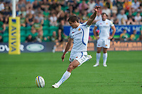Ignacio Mieres of Exeter Chiefs takes a penalty kick during the Aviva Premiership match between Northampton Saints and Exeter Chiefs at Franklin's Gardens on Sunday 9th September 2012 (Photo by Rob Munro)