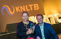Nieuwegein, Netherlands, November 23,  2019, MBC Congrescentrum, KNLTB Year Congres , Esther Vergeer and KNLTB Director Erik Poel<br /> Photo: Tennisimages/Henk Koster