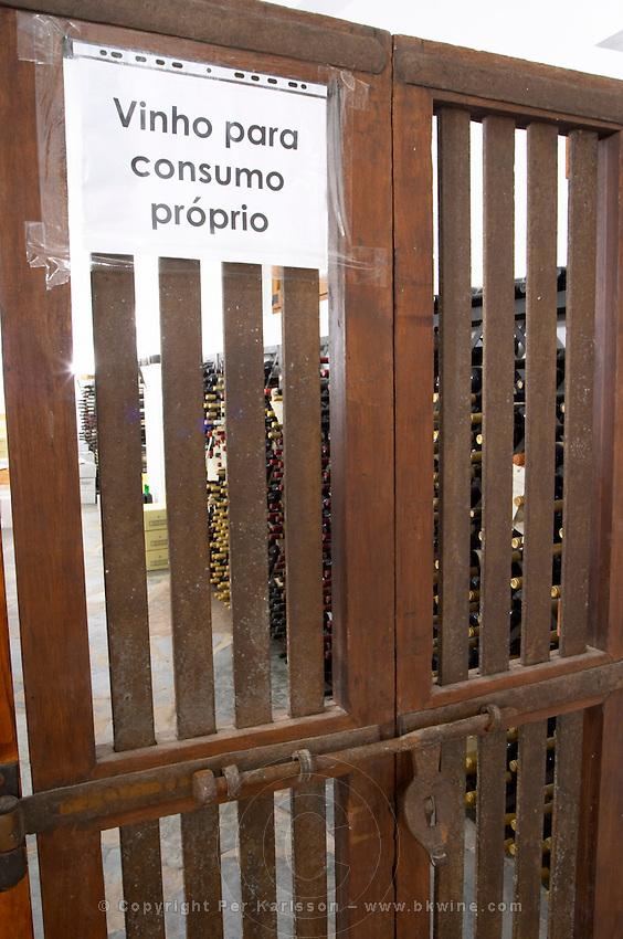 Bottles aging in the cellar. The private wine cellar. J Portugal Ramos Vinhos, Estremoz, Alentejo, Portugal