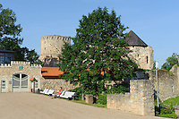 Ruine der Ordensburg in Cesis, Lettland, Europa