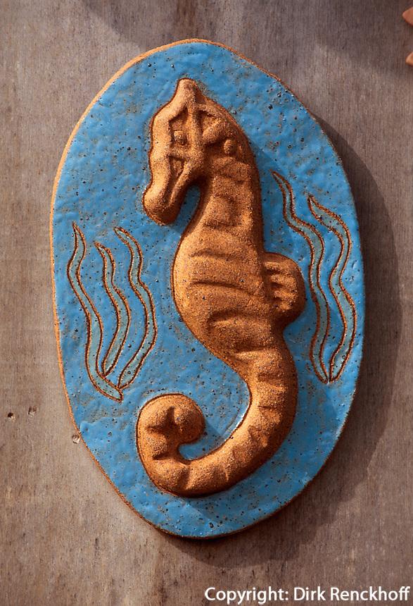 Spanien, Balearen, Ibiza, Keramik-Verkauf bei Sant Rafel de la Creu