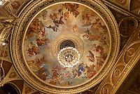 in der Oper, Operaház an der Andrássy út 20, Budapest, Ungarn, UNESCO-Weltkulturerbe