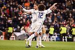 Real Madrid's Marcelo and Danilo Luiz Da Silva during Copa del Rey match between Real Madrid and Celta de Vigo at Santiago Bernabeu Stadium in Madrid, Spain. January 18, 2017. (ALTERPHOTOS/BorjaB.Hojas)