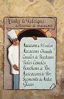 Europe/France/Aquitaine/33/Gironde/Saint-Emilion: Enseigne de la fabrique artisanal de macarons [Non destiné à un usage publicitaire - Not intended for an advertising use]