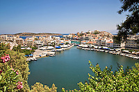 Lake Voulismeni in Agios Nikolaos, Crete