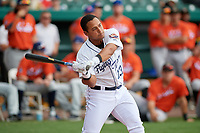 Lakeland Flying Tigers Arvicent Perez (13) during the Home Run Derby before the Florida State League All-Star Game on June 17, 2017 at Joker Marchant Stadium in Lakeland, Florida.  FSL North All-Stars defeated the FSL South All-Stars  5-2.  (Mike Janes/Four Seam Images)