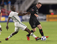 Washington, DC - August 15, 2018: D.C. United defeated the Portland Timbers 4-1 during a Major League Soccer (MLS) match at Audi Field.