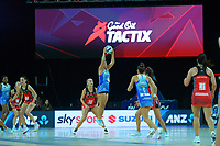 Mystics wing attack Peta Toeava during the ANZ Premiership netball final between Northern Mystics and Mainland Tactix at Spark Arena in Auckland, New Zealand on Sunday, 8 August 2021. Photo: Dave Lintott / lintottphoto.co.nz