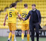 16.08.2020 Livingston v Rangers: Steven Gerrard congratulates Livingston defender Jack Fitzwater
