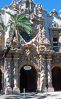 San Diego: Casa del Prado, Balboa Park. Architect Bertram Goodhue. Churriqueresque style, 1935. Photo '78.