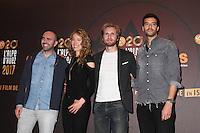 JULIEN ARRUTI, ELODIE FONTAN, PHILIPPE LACHEAU ET TAREK BOUDALI - 20EME FESTIVAL INTERNATIONAL DU FILM DE COMEDIE DE L'ALPE D'HUEZ 2017