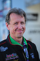 Feb. 17 2012; Chandler, AZ, USA; NHRA funny car driver Bob Bode at the Arizona Nationals at Firebird International Raceway. Mandatory Credit: Mark J. Rebilas-