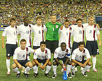 USA U-20 starting eleven team. Republic of Korea and the USA tied 1-1 at the FIFA U20 World Cup at the Olympic stadium in Montreal, Canada on June 30, 2007.