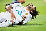 Marcelo Vieira Da Silva of Real Madrid lies on the pitch laughing during their Supercopa de Espana Final 2nd Leg match between Real Madrid and FC Barcelona at the Estadio Santiago Bernabeu on 16 August 2017 in Madrid, Spain. Photo by Diego Gonzalez Souto / Power Sport Images
