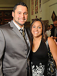 Felipe Paulino with his wife Paola at the Pink in the Park Bazaar & Brunch fundraiser at Union Station at Minute Maid Park Thursday April 29,2010.. (Dave Rossman Photo)