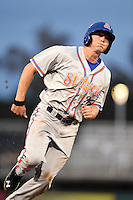 St. Lucie Mets outfielder Brandon Nimmo (26) runs the bases during a game against the Fort Myers Miracle on April 18, 2014 at Hammond Stadium in Fort Myers, Florida.  St. Lucie defeated Fort Myers 15-9.  (Mike Janes/Four Seam Images)