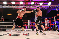 19th December 2020, Hamburg, Germany; Universal Boxing Promotion fight, Felix Sturm versus Timo Rost; Rost with a left jab