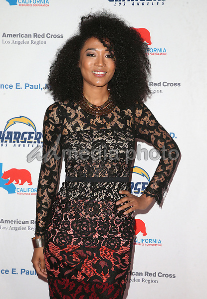 09 March 2018 - Los Angeles, California - Judith Hill. American Red Cross Annual Humanitarian Celebration Honoring The LA Chargers at the Skirball Cultural Center. Photo Credit: F. Sadou/AdMedia