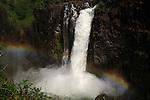 Rainbow in Devil's Cataract, Victoria Falls.