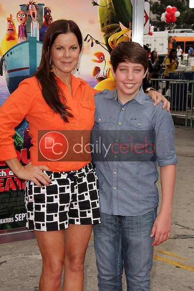 """Marcia Gay Harden, Ryan Lee<br /> at the """"Cloudy With A Chance of Meatballs 2"""" Los Angeles Premiere, Village Theater, Westwood, CA 09-21-13<br /> David Edwards/Dailyceleb.com 818-249-4998"""