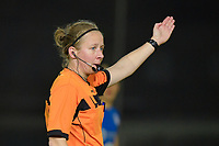 referee Lois Otte pictured during a female soccer game between  AA Gent Ladies and Oud Heverlee Leuven on the 9th matchday of the 2020 - 2021 season of Belgian Scooore Womens Super League , friday 11 th of December 2020  in Oostakker , Belgium . PHOTO SPORTPIX.BE | SPP | DIRK VUYLSTEKE