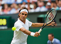 England, London, 28.06.2014. Tennis, Wimbledon, AELTC, Roger Federer (SUI)<br /> Photo: Tennisimages/Henk Koster