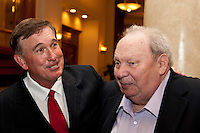 Hall of Fame player Gary Carter and Former Major League Umpire Harry Wendelstedt Jr. at the Florida State League Hall of Fame Dinner on November 9, 2009 in Daytona Beach, Florida. Photo by Scott Jontes / Four Seam Images