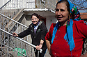 Prohorovo, Bulgaria--Todorka Dimitrova, 18, left, with her mother, Petrana Koleva, 50. They are Kalaidzhi, a Roma subgroup specializing as tinsmiths and dispersed throughout Bulgaria. In their village, they are the only Kalaidzhi family.