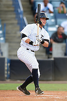 Tampa Yankees first baseman Matt Snyder (55) at bat during a game against the Dunedin Blue Jays on June 28, 2014 at George M. Steinbrenner Field in Tampa, Florida.  Tampa defeated Dunedin 5-2.  (Mike Janes/Four Seam Images)
