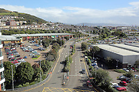 WORDS BY KARL WEST<br /> Pictured: Parc Tawe and the area of St Thomas as seen fro the Techhub Friday 30 September 2016<br /> Re: The regeneration of the High Street in Swansea, Wales, UK