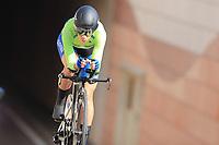 9th September 2021; Trento, Trentino–Alto Adige, Italy: 2021 UEC Road European Cycling Championships, Womens Individual time trials:  BUJAK Eugenia (SLO)