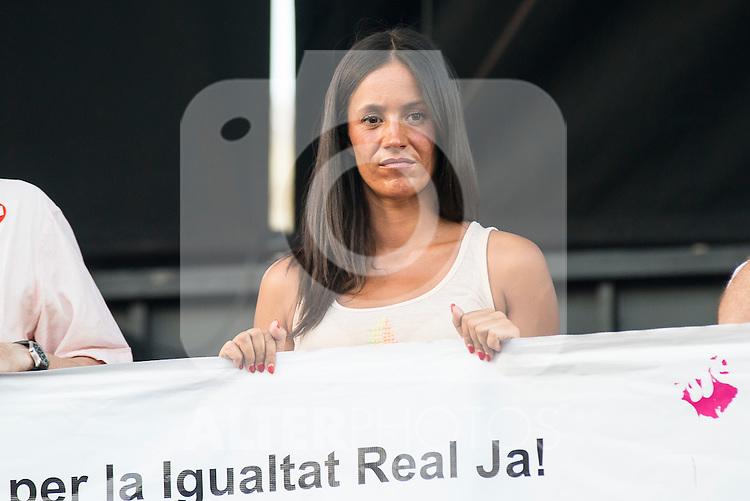 Ciudadanos Politician Begoña Villacis attends to the protest during Gay Pride celebrations in Madrid, Spain. July 04, 2015.<br />  (ALTERPHOTOS/BorjaB.Hojas)