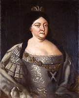 Portrait of Empress Anna Ioannovna (1693-1740)<br /> Artist:Anonymous<br /> Museum:State History Museum, Moscow<br /> Method:Oil on canvas<br /> Created:1730s<br /> Trend in art:Rococo