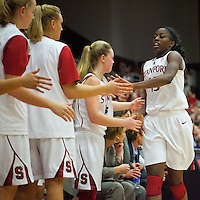 STANFORD, CA - December 28, 2010: Chiney Ogwumike of the Stanford Cardinal women's basketball team during Stanford's game against the Xavier Musketeers at Maples Pavilion. Stanford won 89-52.