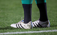 Patryk Dragon of FC Schalke 04 socks & boots during the Premier League U21 International Cup match between Porto U21 and Schalke 04 U21 at Adams Park, High Wycombe, England on 25 September 2015. Photo by Andy Rowland.