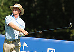 1 September 2008: Briny Baird hits a tee shot at the Deutsche Bank Golf Championship in Norton, Massachusetts.