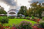 Deutschland, Bayern, Mittel-Schwaben, Unterallgaeu, Bad Woerishofen: Musikpavillon im Kurpark | Germany, Bavaria, Swabia, Lower Allgaeu, Bad Woerishofen: music pavilion in spa gardens