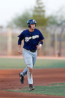 Paul Eshleman #14 of the AZL Brewers during a game against the AZL Padres at the Texas Rangers Spring Training Complex on July 12, 2013 in Surprise, Arizona. AZL Brewers defeated the AZL Padres, 5-3. (Larry Goren/Four Seam Images)
