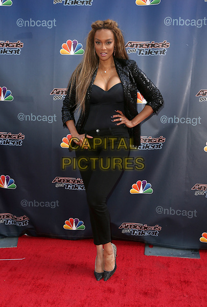"""UNIVERSAL City, CA April 27- Tyra Banks, At """"America's Got Talent"""" red carpet at The Universal Lot, California on April 27, 2017. <br /> CAP/MPI/FS<br /> ©FS/MPI/Capital Pictures"""