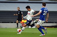 Son Heung-Min of Tottenham Hotspur sees his effort saved by Jordan Pickford of Everton during Tottenham Hotspur vs Everton, Premier League Football at Tottenham Hotspur Stadium on 6th July 2020