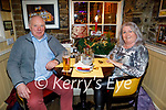 John O'Sullivan and Mags Driscoll enjoying the evening in the Brogue Inn on Thursday.