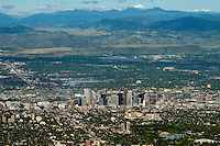 Denver with Rocky Mountain backdrop. Aug 21, 2014.  812961