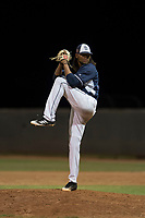 AZL Padres 2 relief pitcher Vijay Miller (38) delivers a pitch during an Arizona League game against the AZL Padres 1 at Peoria Sports Complex on July 14, 2018 in Peoria, Arizona. The AZL Padres 1 defeated the AZL Padres 2 4-0. (Zachary Lucy/Four Seam Images)