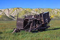 The remains of a of a combine harvester provides evidence of the Carrizo Plain's agricutural past.