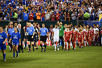 Philadelphia, PA - Wednesday July 19, 2017: USMNT and El Salvador starting eleven's during a 2017 Gold Cup match between the men's national teams of the United States (USA) and El Salvador (SLV) at Lincoln Financial Field.