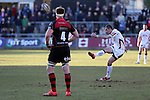 Ulster scrum half Ruan Pienaar attempts an early second half penalty.<br /> Guinness Pro12<br /> Gwent Dragons v Ulster<br /> 08.03.15<br /> ©Steve Pope - SPORTINGWALES