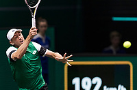 Rotterdam, The Netherlands, 2 march  2021, ABNAMRO World Tennis Tournament, Ahoy, First round match: John MIllman (AUS).<br /> Photo: www.tennisimages.com/henkkoster
