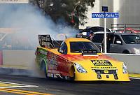 Feb 7, 2014; Pomona, CA, USA; NHRA funny car driver Bob Bode during qualifying for the Winternationals at Auto Club Raceway at Pomona. Mandatory Credit: Mark J. Rebilas-