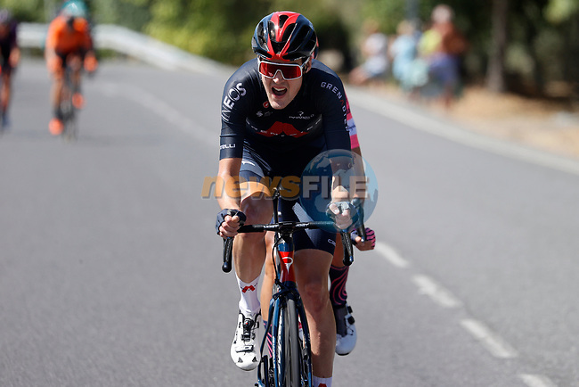 Pavel Sivakov (RUS) Ineos Grenadiers out front during Stage 15 of La Vuelta d'Espana 2021, running 197.5km from Navalmoral de la Mata to El Barraco, Spain. 29th August 2021.     <br /> Picture: Luis Angel Gomez/Photogomezsport   Cyclefile<br /> <br /> All photos usage must carry mandatory copyright credit (© Cyclefile   Luis Angel Gomez/Photogomezsport)